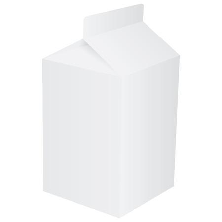 envase de leche: Cart�n de papel en blanco para jugo de fruta o leche  Vectores