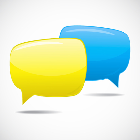 Speech bubbles, conversation in progress Vector