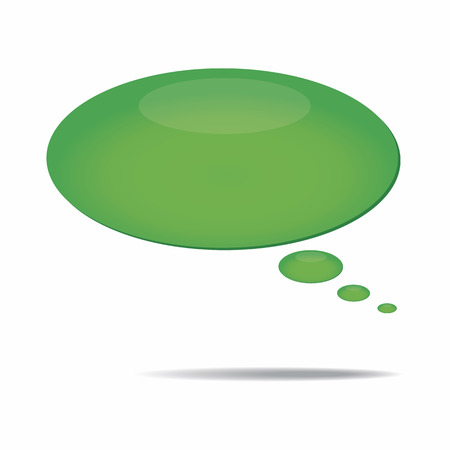 Speech bubble icon isolated over a white background