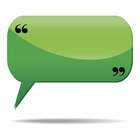 Speech bubble icon isolated over a white background Vector