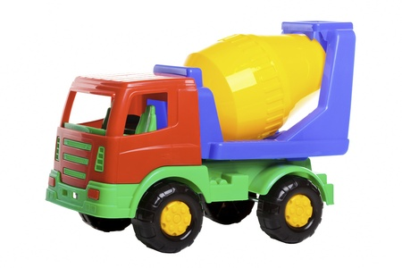 scrambler: Cement Mixer Truck isolated on white.