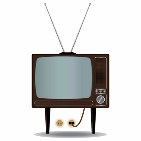 Old TV Set Stock Vector - 8600223