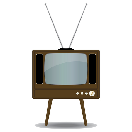 Old TV Set Stock Vector - 8600221