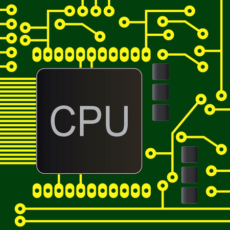 main part: electronic circuit board with chip