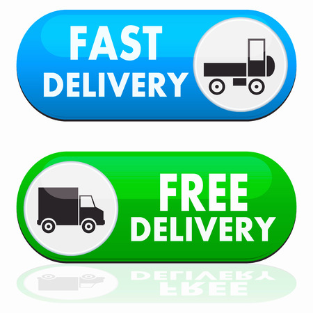 fast delivery: Truck Sign Transport Icon on white background