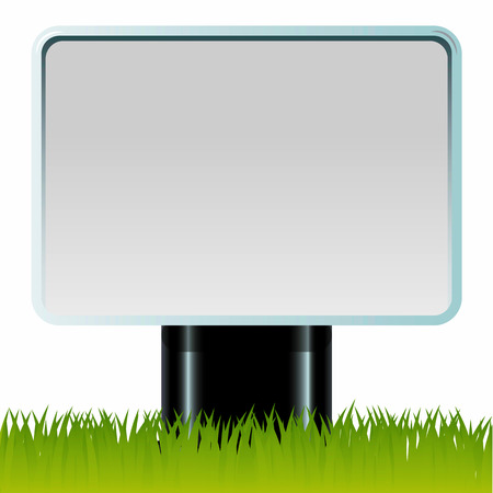 Billboard on the green grass Vector