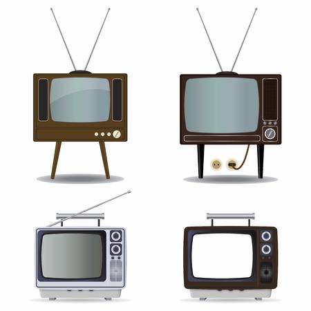 Retro TV set Stock Vector - 8710012