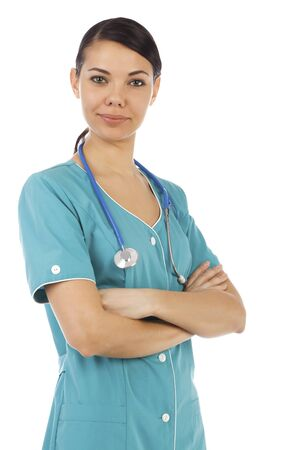 Female medical doctor with stethoscope Stock Photo - 9367470