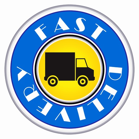 fast delivery: Fast delivery icon on white background Illustration