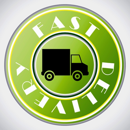 Fast delivery icon on white background  Stock Vector - 9404695