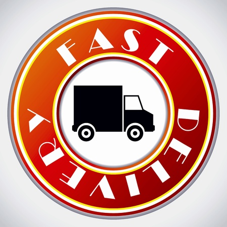 Fast delivery icon on white background Stock Vector - 9404696