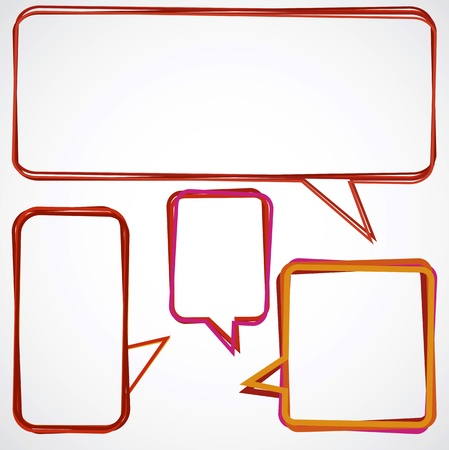 Speech bubbles over light grey background Stock Vector - 9614108