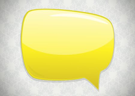 Speech bubble over vintage background  Vector