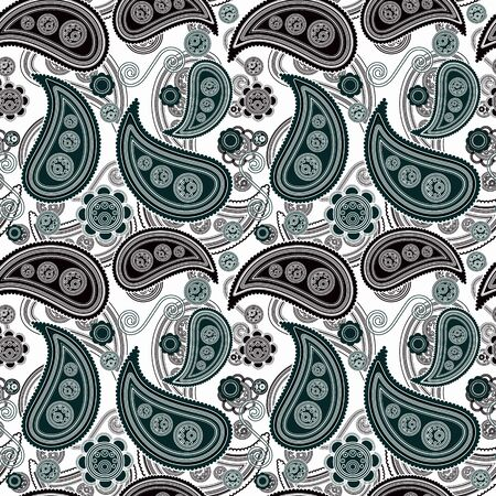 wealth abstract: Paisley Seamless Pattern