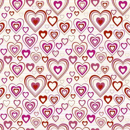 hearts seamless background  矢量图像