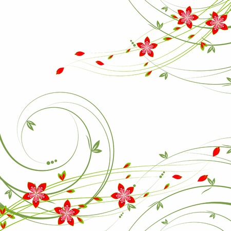 beautiful summer flowers  Vector