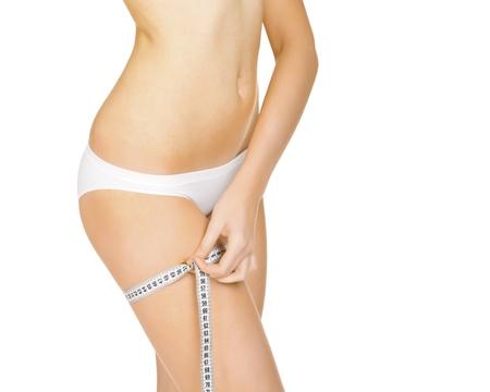 elasticity: Closeup photo of womans leg