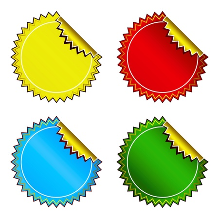 Set of bright colorful stickers Vector