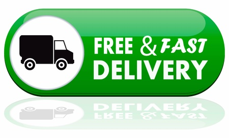 Free and fast delivery banner Vector