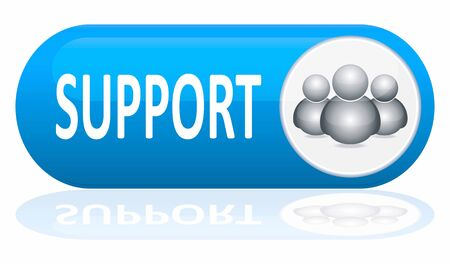 telecommunications technology: support banner isolated on white Illustration
