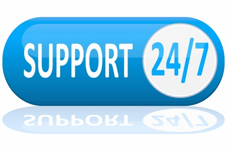 support banner isolated on white Stock Vector - 10064446