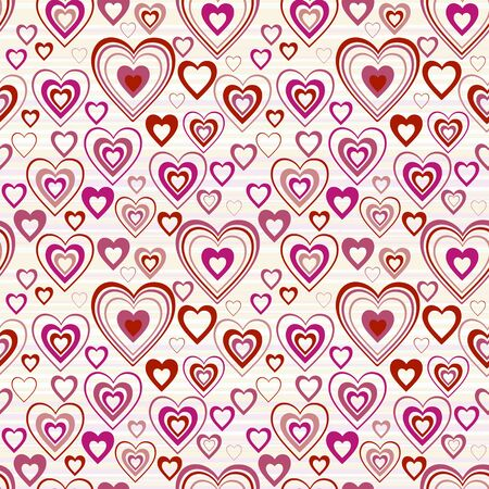 whimsy: hearts seamless background  Stock Photo