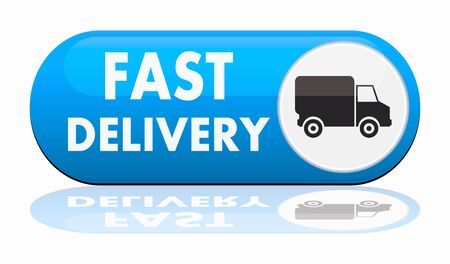 fast auto: fast delivery banner Stock Photo