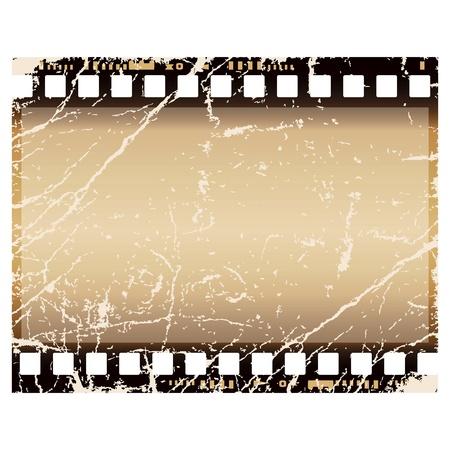 nakładki: klatki filmu grunge, odizolowane na biaÅ'ym tle