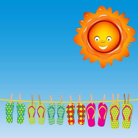 Flip-flops under the Sun photo