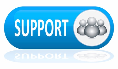 support center: support banner isolated on white Stock Photo
