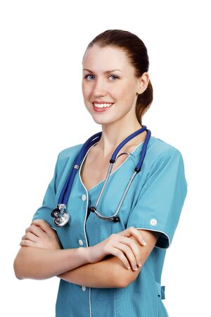 Doctor woman smiling Stock Photo - 11298675