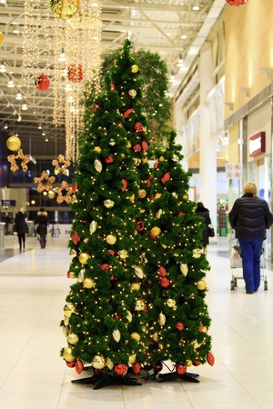 Christmas tree in a mall