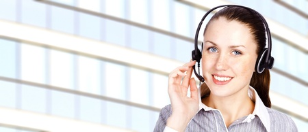 Service operator woman Stock Photo - 11562687