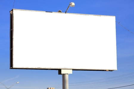 Street billboard with a space for your text Stock Photo - 11960610