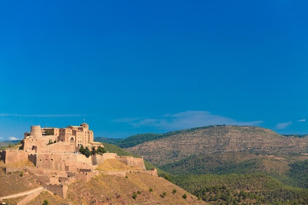 crusader: Old castle of Cardona in Spain