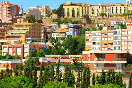 Houses of city of Tarragona, Spain photo