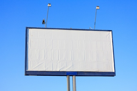 Old empty billboard. photo