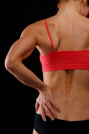hands on hips: Pain back