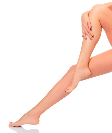 Beautiful femal legs after depilation procedure   photo