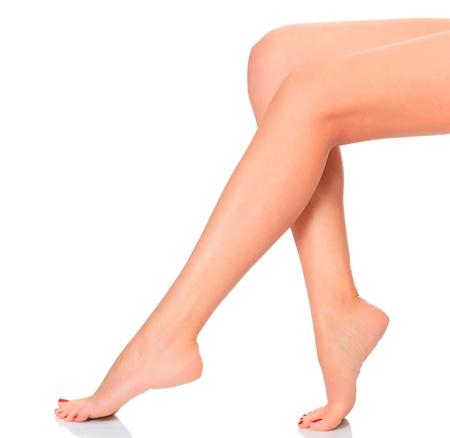 female legs on white background Stock Photo - 12790846