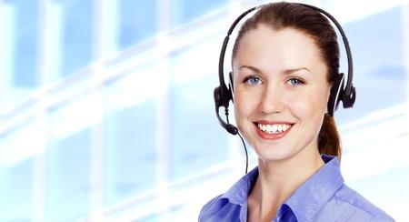 Smiling operator photo