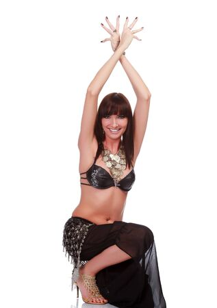 Belly dancer smiling to you.  photo