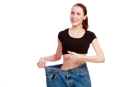 happy weight loss Stock Photo - 13523795