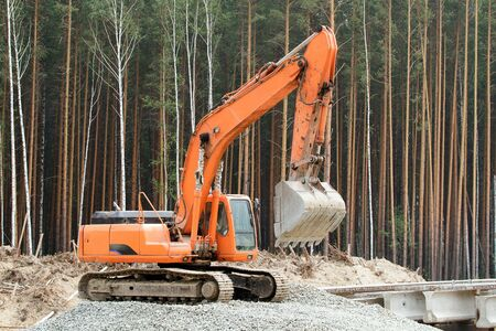 earth mover: Heavy earth mover in the forest