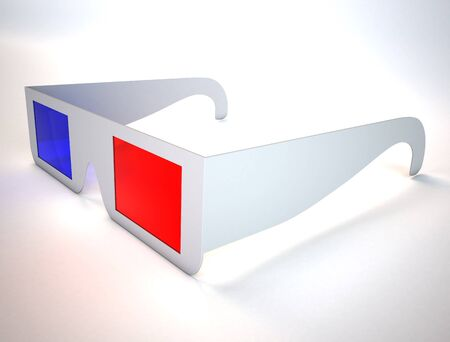 3D glasses: 3d glasses on white surface