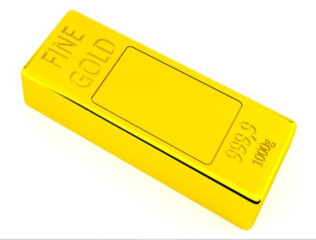goldbars: Brick of gold on white background