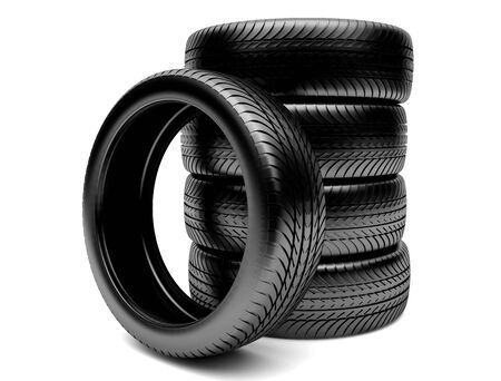 3d tires isolated on white background Stock Photo - 14892208