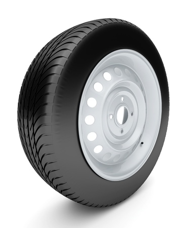 3d tire isolated on white background Stock Photo - 14892214