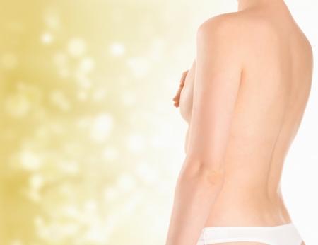 beaux seins: Belle jeune femme Banque d'images
