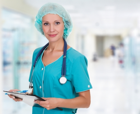 Medical doctor woman in the office Stock Photo - 15042170